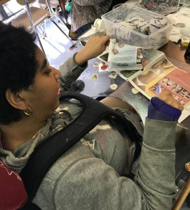 Student Completing a craft