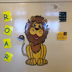 ROAR classroom entrance bulletin board