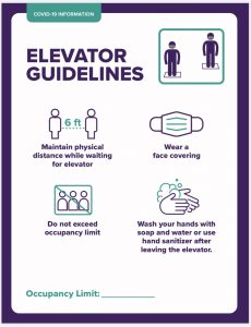 Elevator guidelines poster